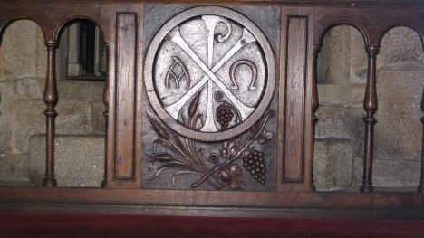 Monogramm Christi in der Gruft des Domes zu Santiago